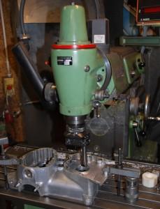 Ausspindeln der Lagerbohrung nach Schweißreparatur auf der Fräsmaschine